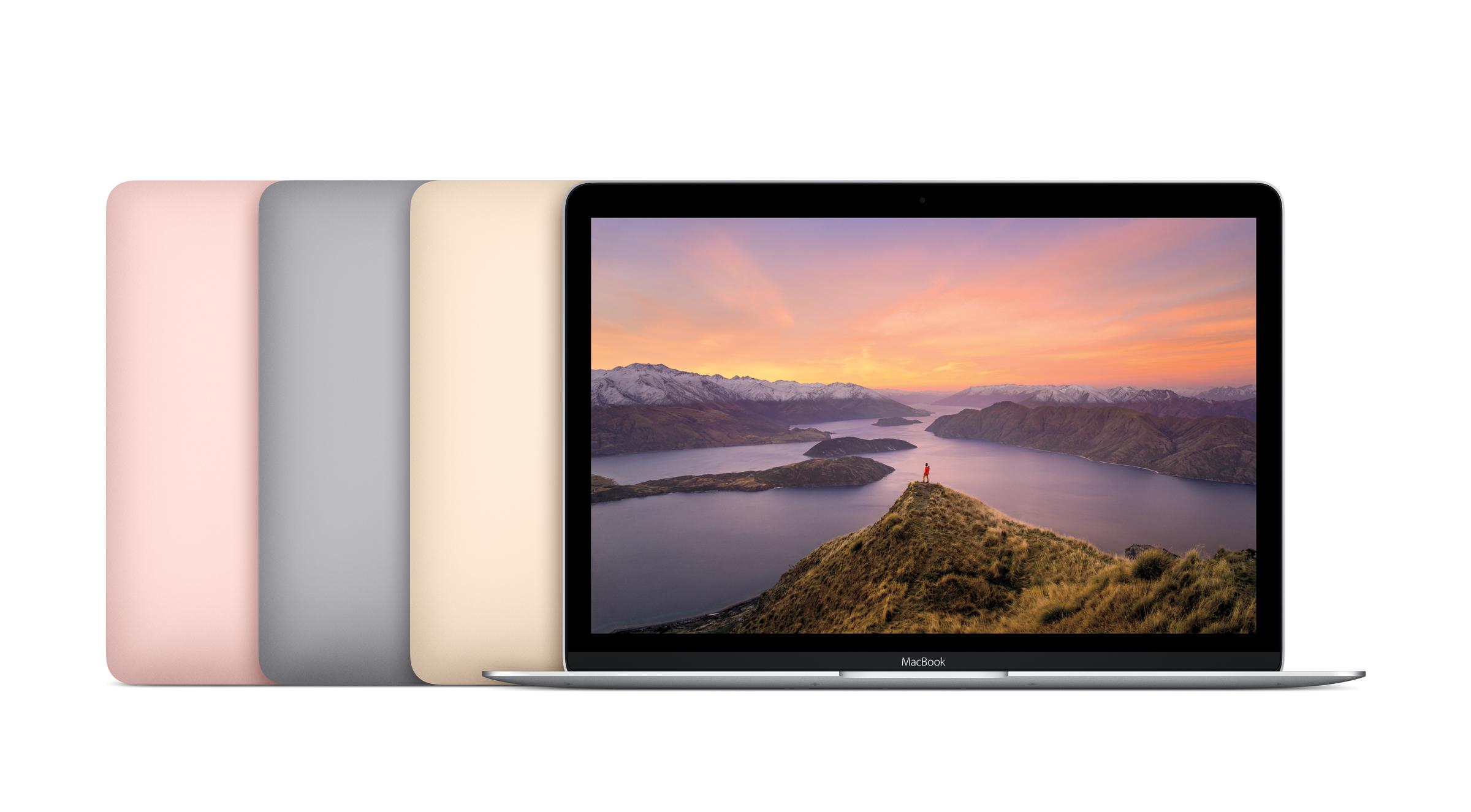 苹果小升级了 MacBook 系列,并新增玫瑰金选项