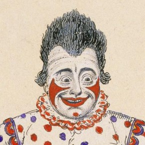 Despite his happy face Joseph Grimaldi had a wretched personal life, and died young from