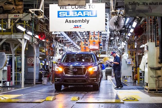スバル、新型3列シートSUV「アセント」の生産を米国インディアナ州で開始! 初年度に6万台の販売を期待
