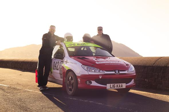 AOL Cars rally team