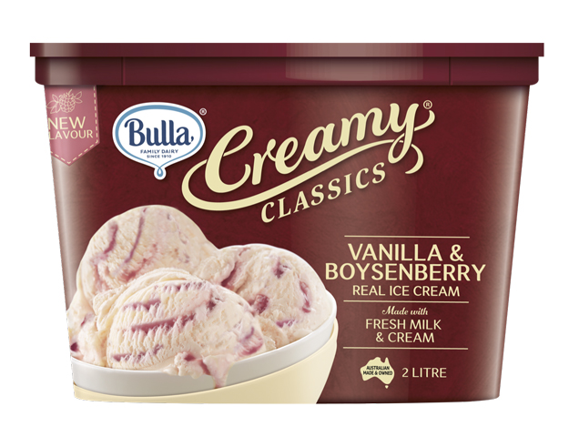 Bulla Creamy Classics is ice cream but Bulla Real Dairy Vanilla is