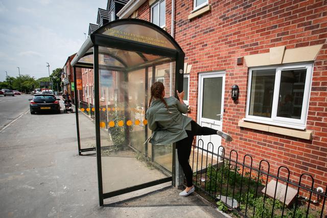 New-build house has front door blocked by bus stop