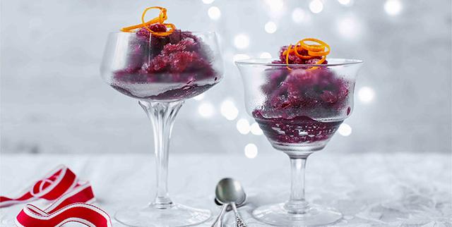 Mulled wine sorbet