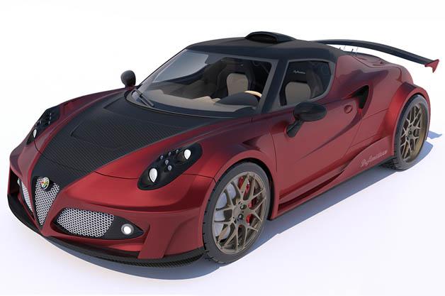 ラッザリーニがデザイン、ヘネシーがチューニングを施したアルファロメオ「4C」が誕生?