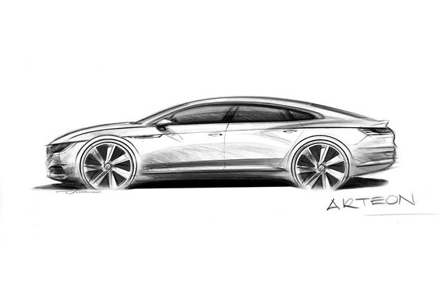 【ビデオ】フォルクスワーゲン、2017年夏に発売する新型車「Arteon」のスケッチを公開