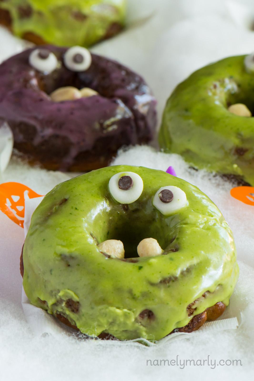 vegan monster donuts for halloween - aol lifestyle