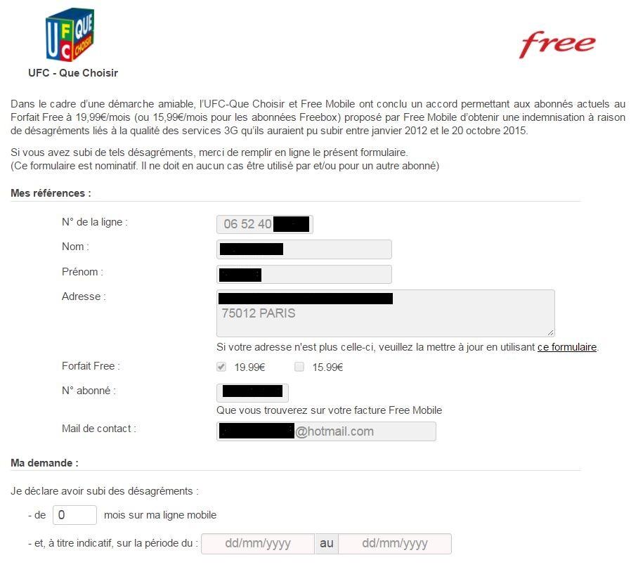 Free Mobile indemnise ses clients pour la mauvaise qualité de sa 3G (voici comment en