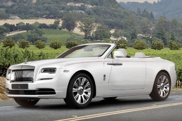 ロールス・ロイス「ドーン」第1号車、慈善オークションで8,600万円の値を付ける