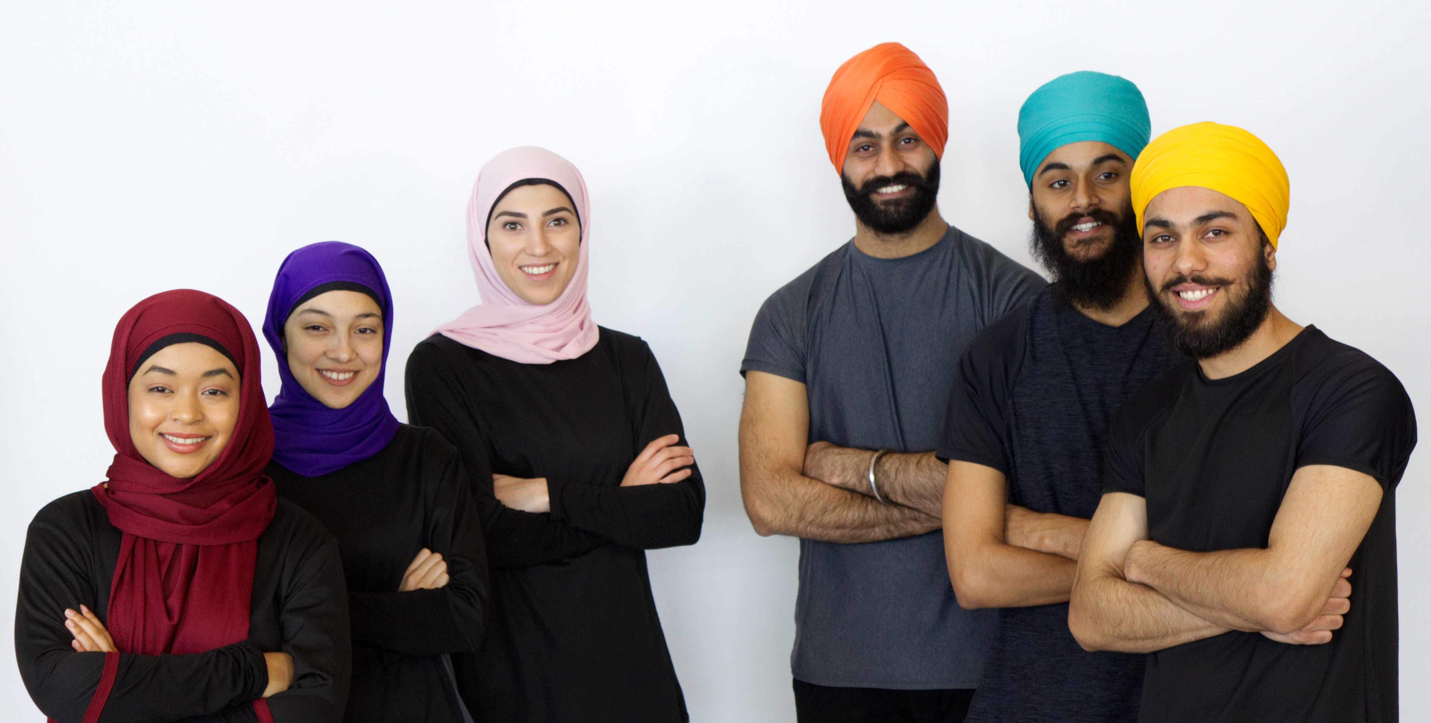 Thawrih team members: Sawsan Abu-Oshaibah (centre in pink hijab), Pavneet Ahluwalia (centre in turquois...