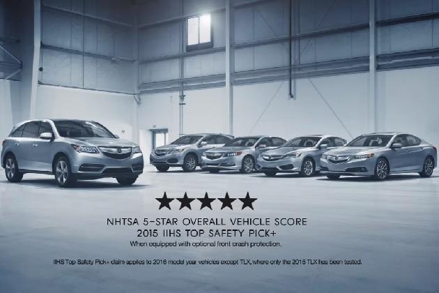 【ビデオ】アキュラ、現行モデル全5車種が米国の2つの衝突安全性評価において最高評価を獲得!