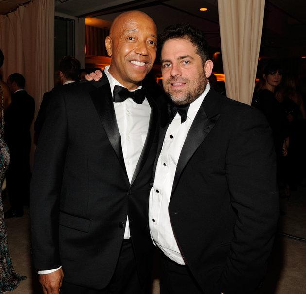 Russell Simmons (à gauche) a été accusé d'agresser sexuellement une mannequin de 17 ans pendant que Brett...
