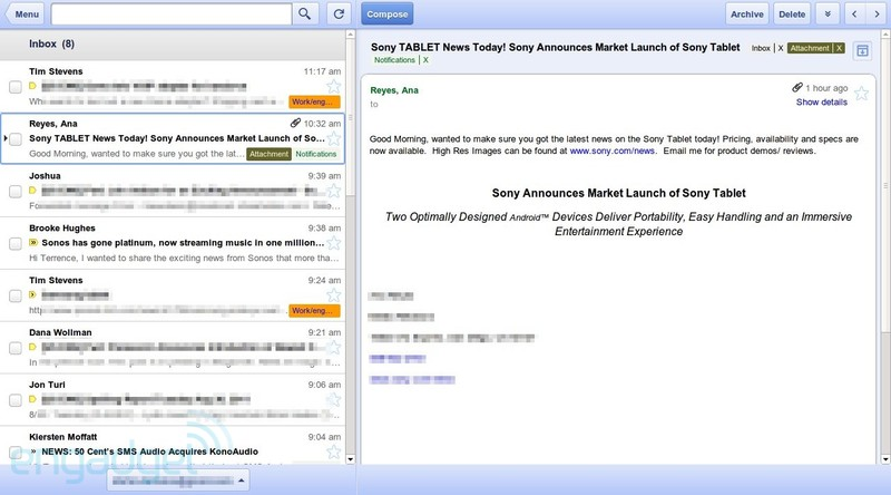 Offline Gmail Chrome app