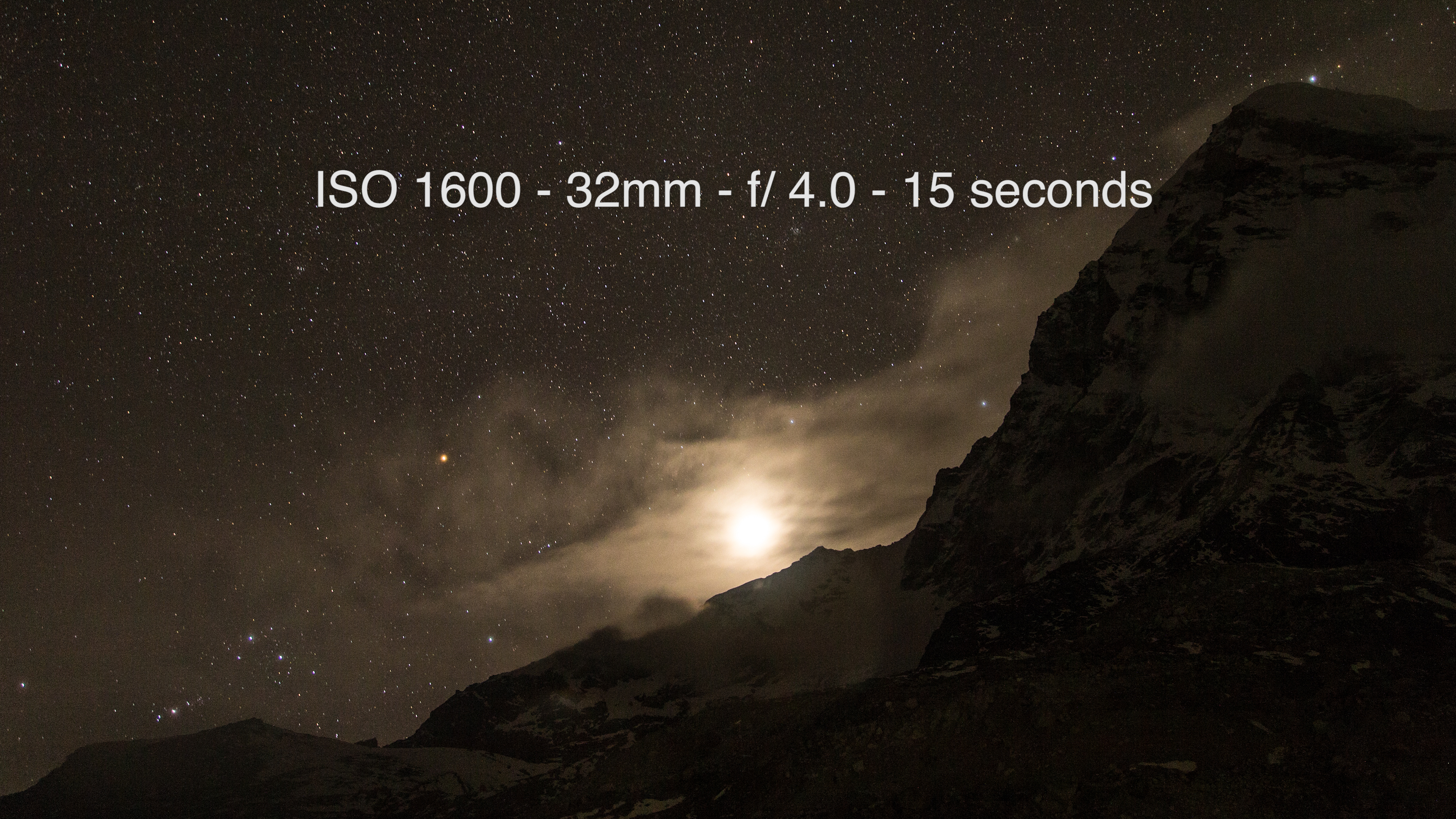 Moon setting on Mount Pumori from the Everest