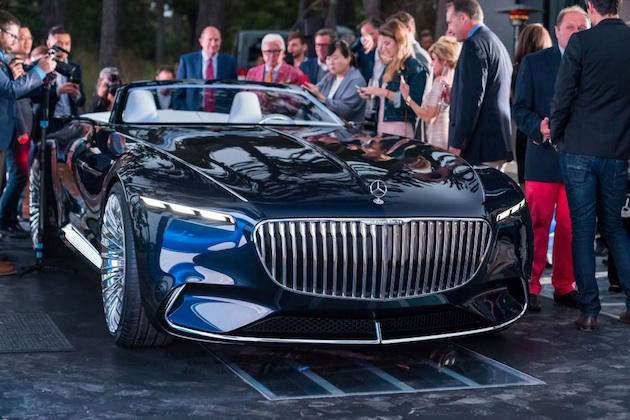超高級電気自動車「ビジョン メルセデス・マイバッハ 6」のカブリオレがペブルビーチに登場!