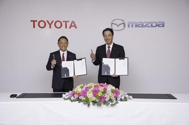 トヨタとマツダ、業務資本提携に関する合意書を締結 4つの分野で協業