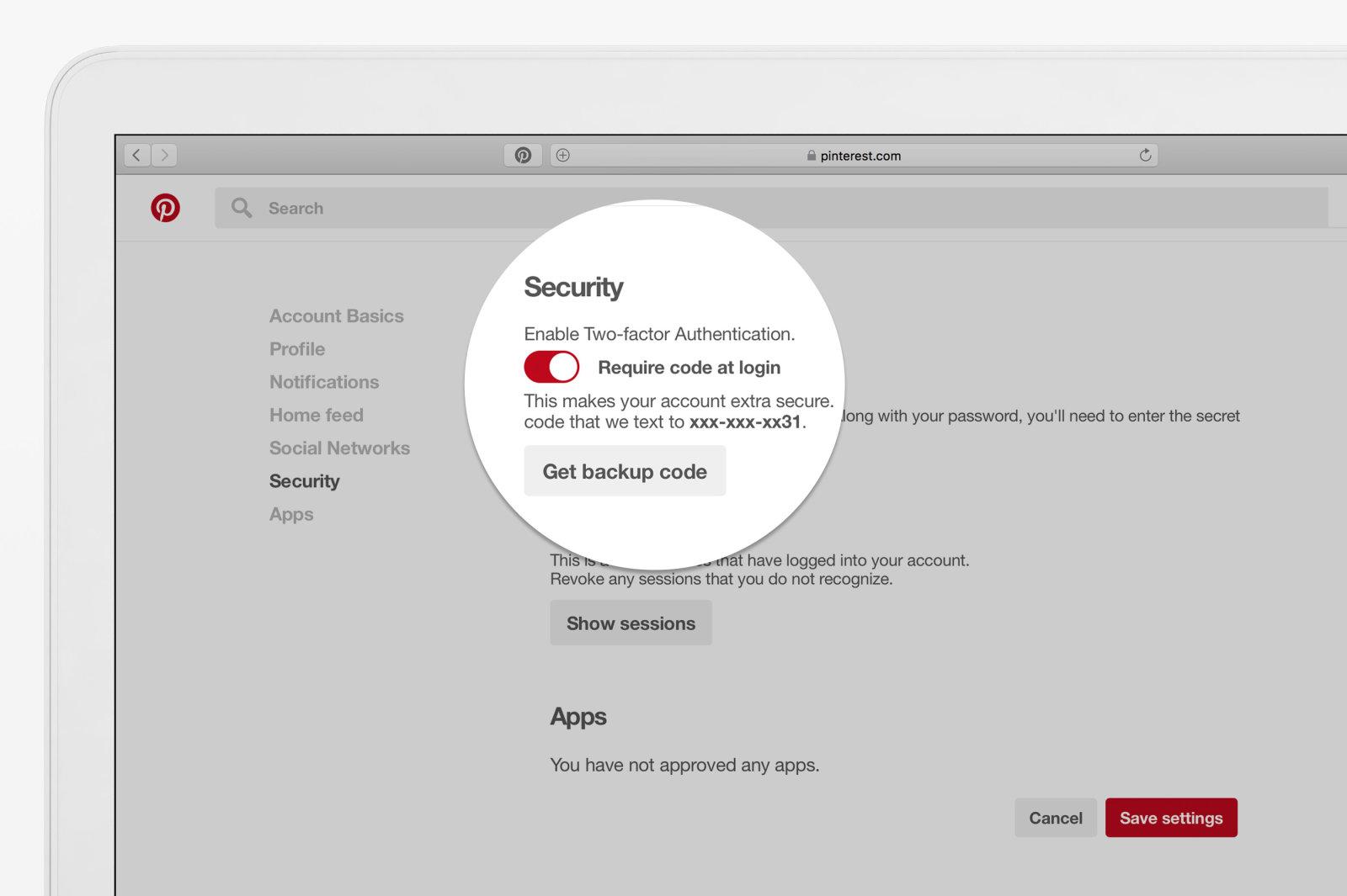 Pinterest 两阶段认证正式向所有使用者开始推送