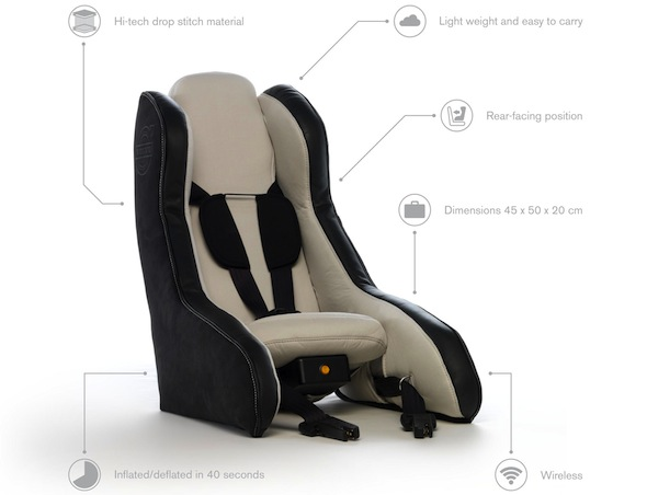 Volvo inflatable car seat
