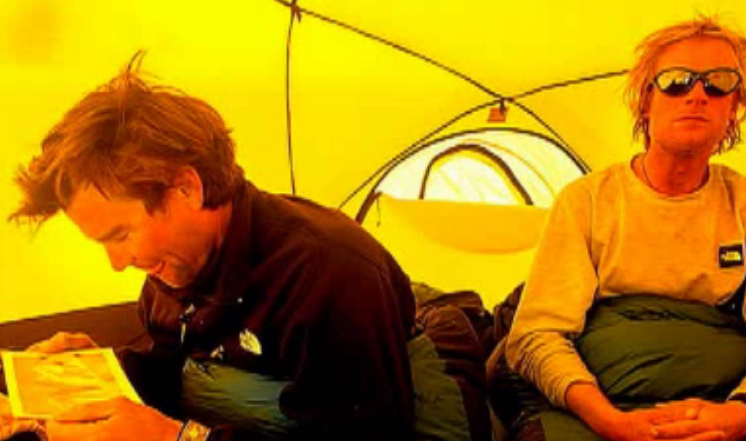 Alex Lowe and Conrad Anker in an undated photo. Lowe and cameraman David Bridges were killed in an avalanche on a Tibetan mountain in 1999, while Anker was injured.