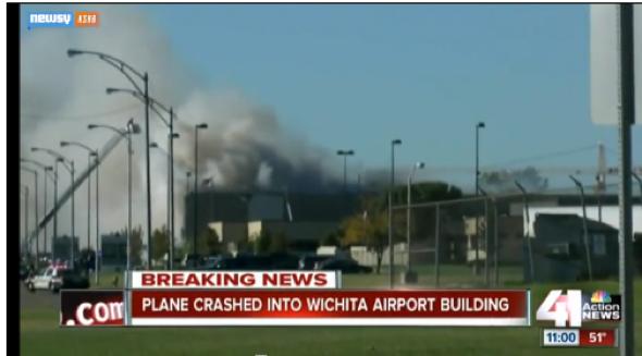 4 killed as plane crashes into Kansas Airport building