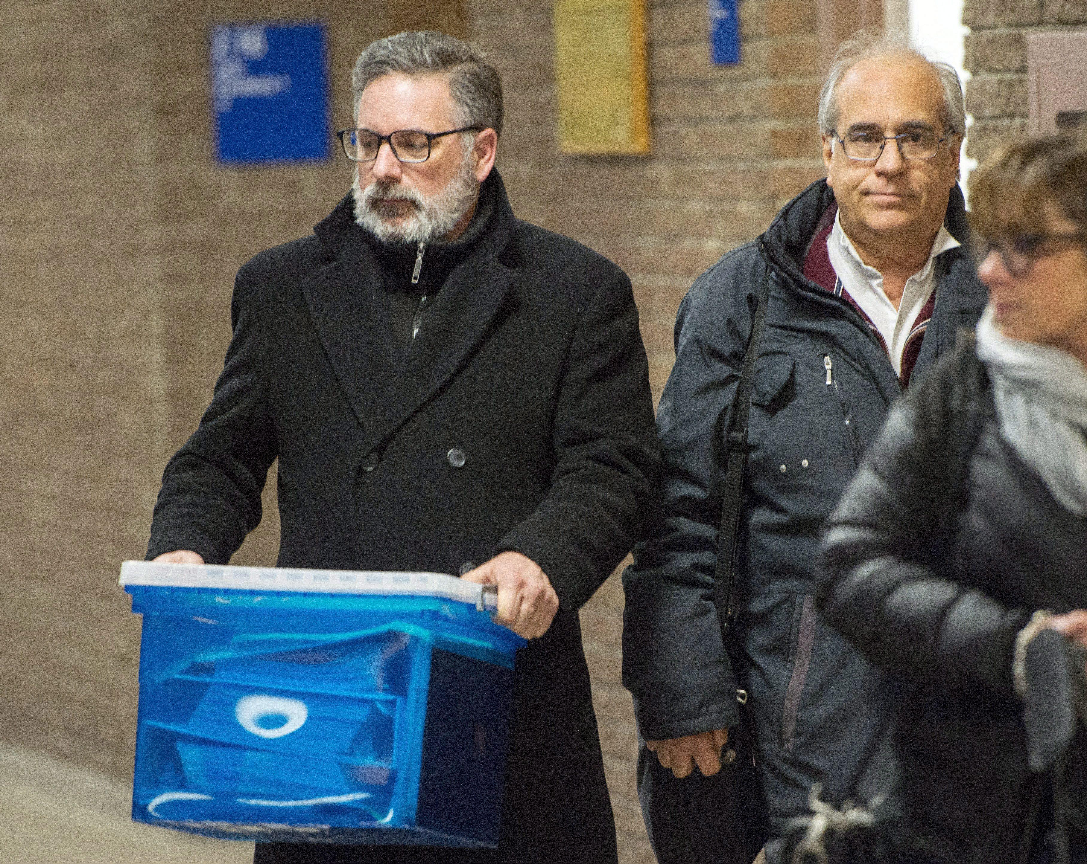 Jean Demaître et son avocat Gaétan