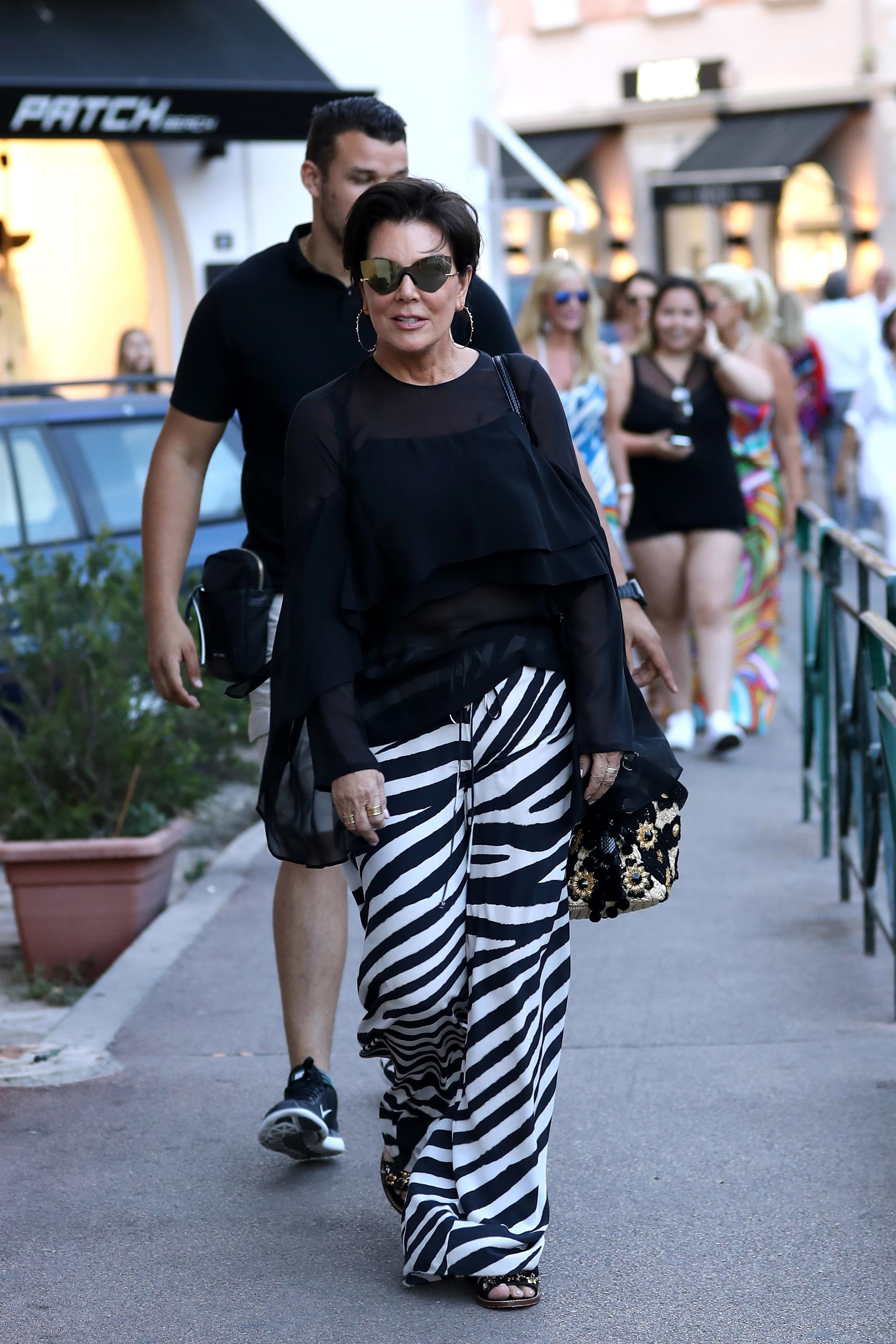 ** RIGHTS: ONLY UNITED STATES, CANADA ** Saint-Tropez, FRANCE  - TV personality Kris Jenner was seen doing shopping while on holiday in Saint-Tropez, France.  Pictured: Kris Jenner  BACKGRID USA 10 JULY 2017   BYLINE MUST READ: Best Image / BACKGRID  USA: +1 310 798 9111 / usasales@backgrid.com  UK: +44 208 344 2007 / uksales@backgrid.com  *UK Clients - Pictures Containing Children Please Pixelate Face Prior To Publication*