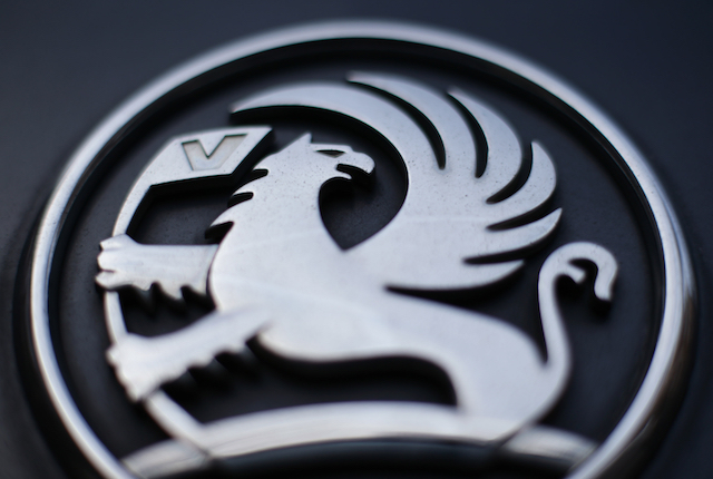 "File photo dated 06/03/17 of the griffin badge on the front of a Vauxhall vehicle. The company says that it is ""following a strategic plan"" despite the car giant slips into third place for UK sales rankings."
