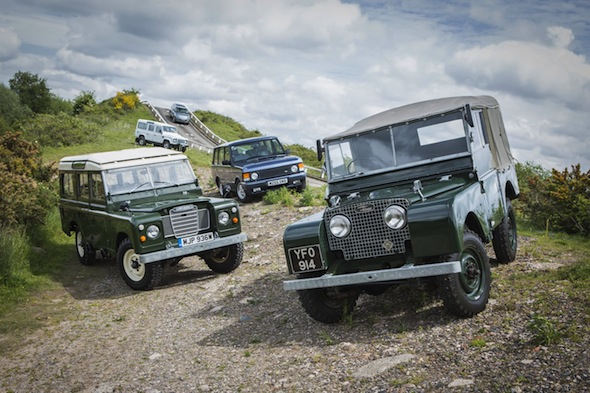 Land Rovers at Fen End