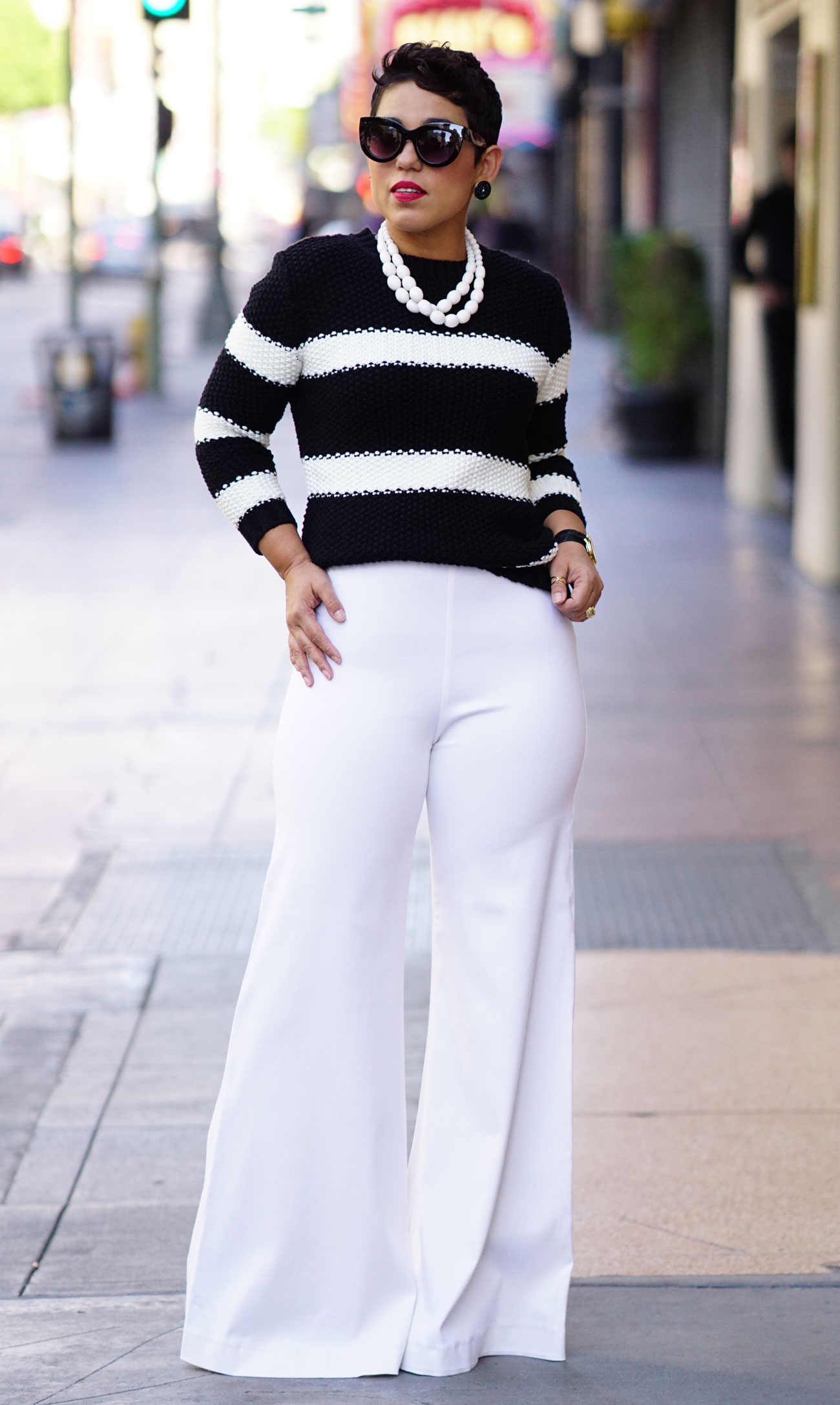 How to rock wide-leg white pants this winter - AOL Lifestyle