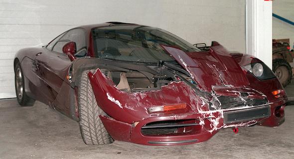 Crashed F1