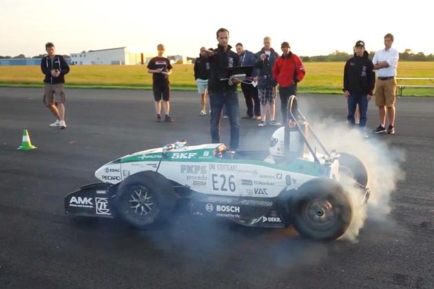 ドイツの学生チームが製作した電気自動車が、0-100km/h加速で1.779秒というタイムを記録!