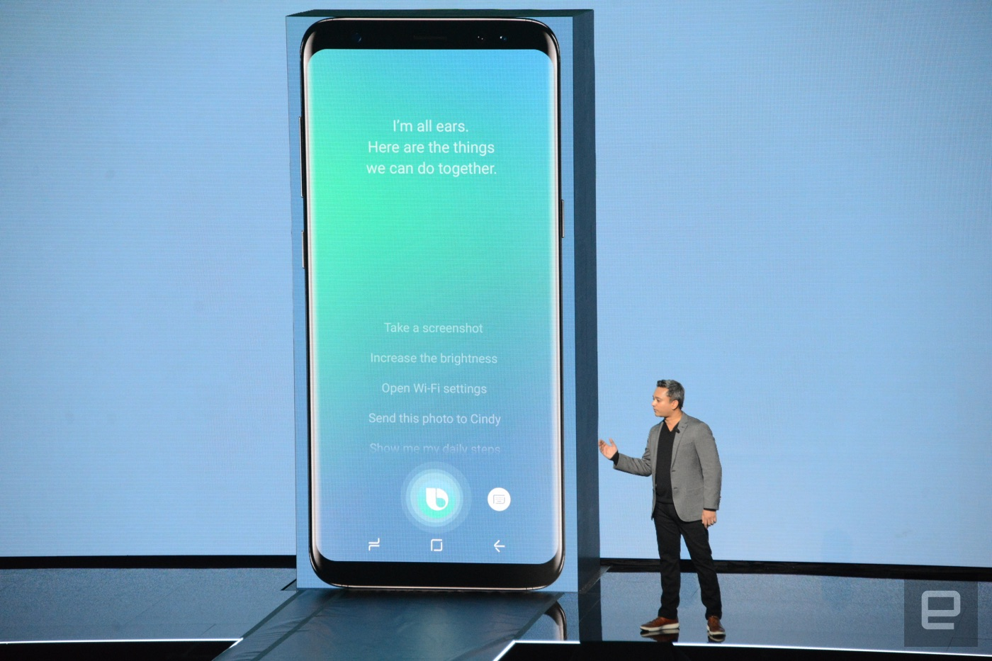 Samsung's Bixby AI assistant can see as well as talk