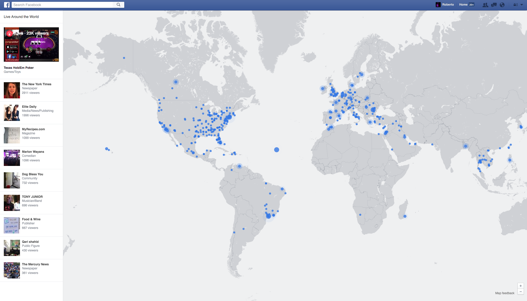 Facebook launches interactive map for Live Video – Map World Live
