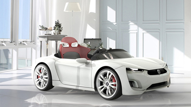 your kids can drive this electric android equipped sports car