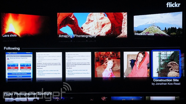 Flickr's redesigned Apple TV app