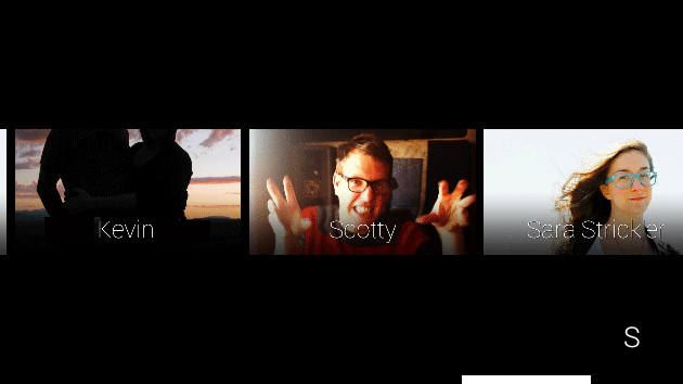 Google Glass' new contacts interface