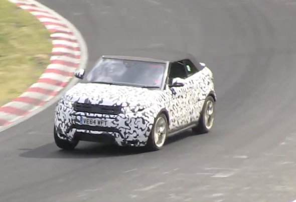 Convertible Range Rover Evoque spotted testing at Nurburgring
