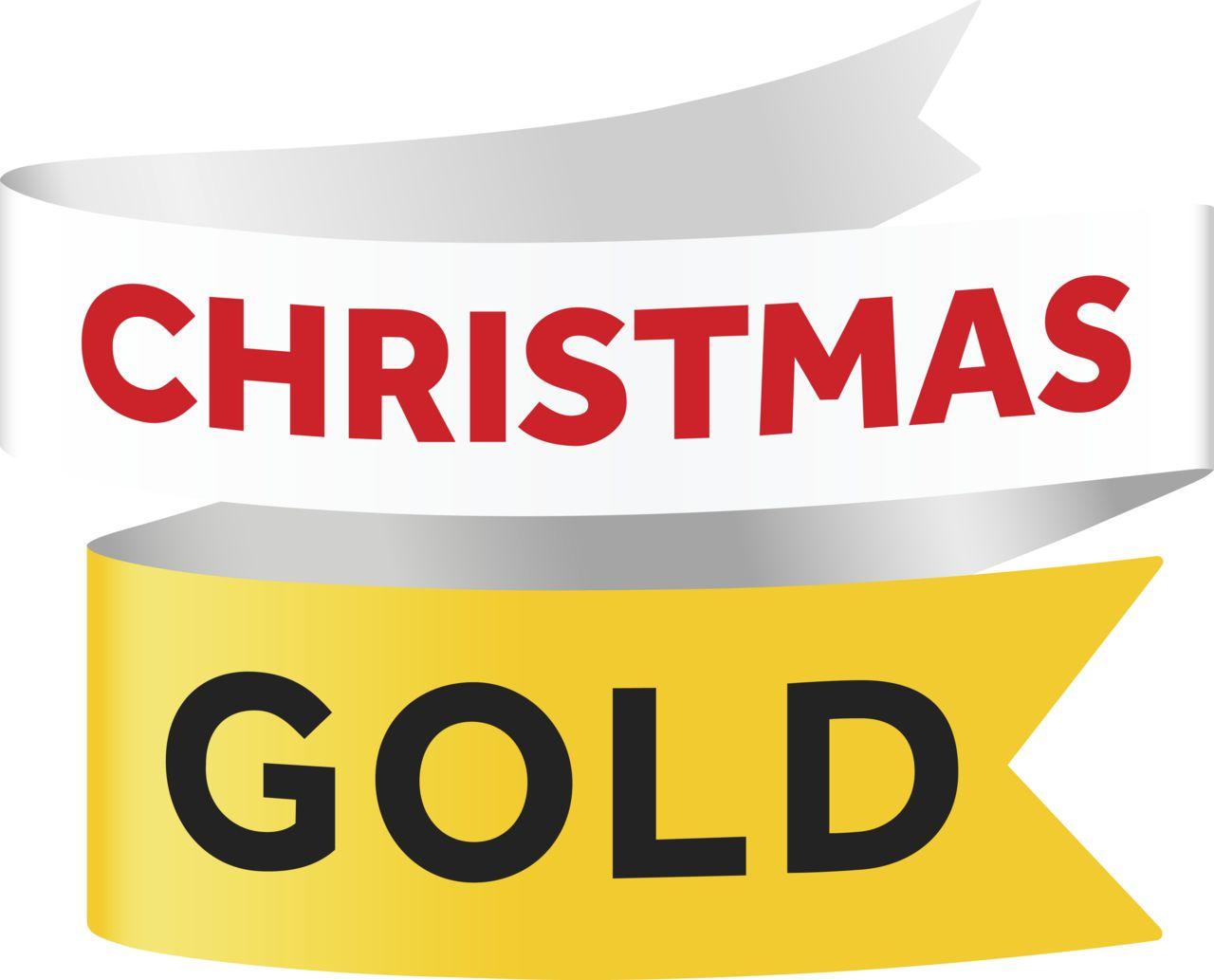 Gold xmas logo
