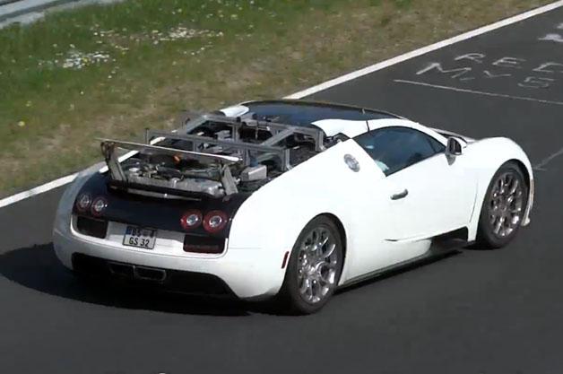 【ビデオ】ブガッティ「ヴェイロン」の後継車がニュルでテスト中?