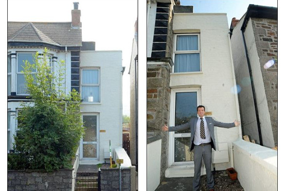 The six-foot-wide house in Redruth