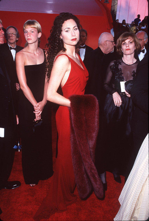 Minnie Driver during The 70th Annual Academy Awards - Red Carpet at Shrine Auditorium in Los Angeles,...