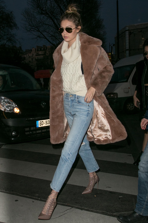 Gigi Hadid And Bella Hadid Sightings In Paris January 21, 2016