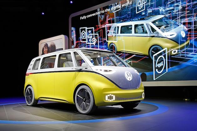 【北米国際オートショー2017】フォルクスワーゲン、電動マイクロバスのコンセプトカー「I.D. Buzz」を発表