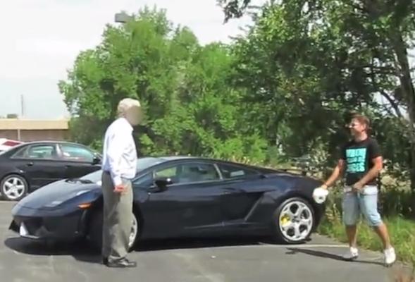 Lamborghini prank backfires