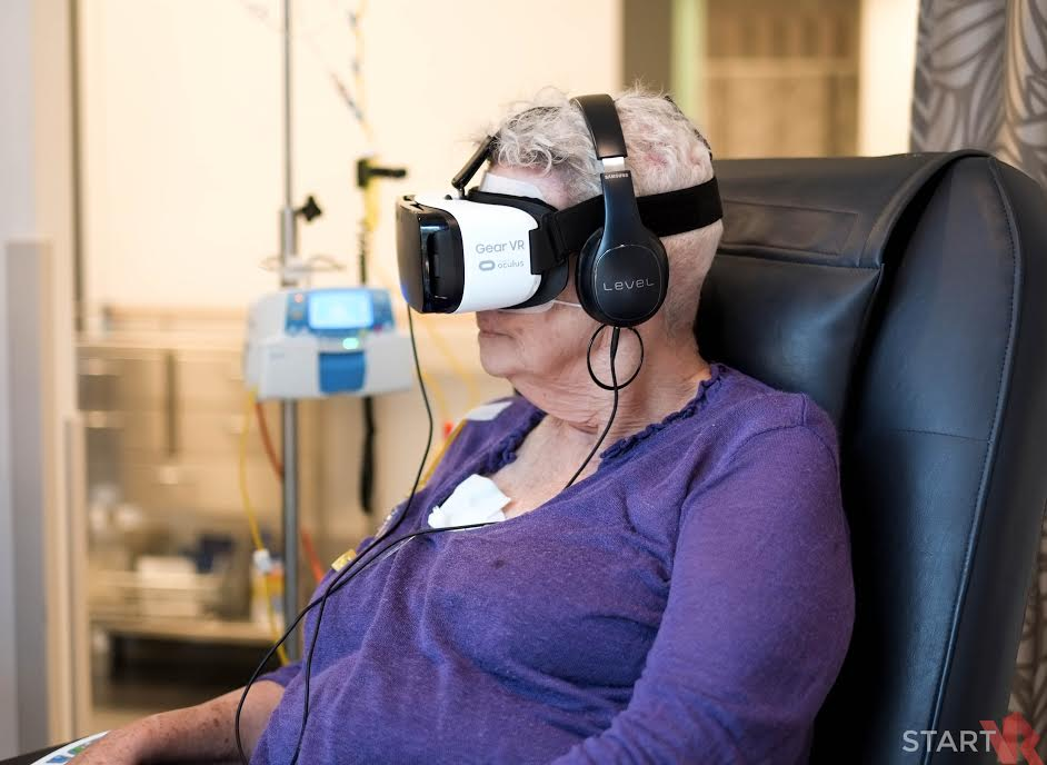 VR allows patients to immerse themselves in an entirely different