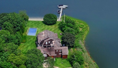 kardashian summer rental southampton aerial view
