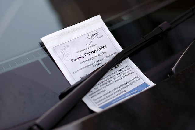 File photo dated 31/10/16 of a penalty charge notice (PCN) parking ticket issued on the windscreen of a car, as motorists are being hit with unnecessary fines because councils are failing to explain their right to challenge parking tickets, the local government watchdog has warned.