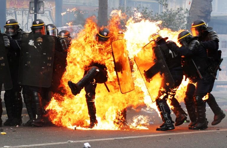 En France, la police