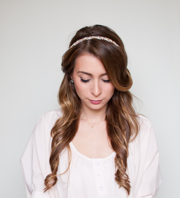 Easy Half Up Half Down Hair Wrap Tutorial Aol Lifestyle