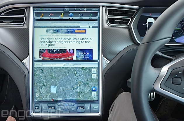 The dash system on the top-spec Tesla S