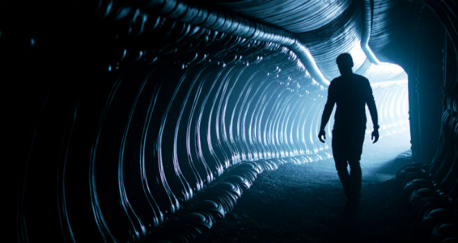 Tunnel in the Juggernaut from ALIEN COVENANT